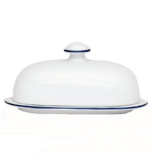 Kitchen Craft White Porcelain Covered Butter Dish