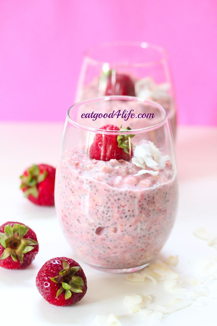 strawberry coconut overnight oats. Gluten free and vegan. Make this at night and it will be ready in the morning. This is creamy and delicious. #glutenfree #vegan #cleaneating #healthy