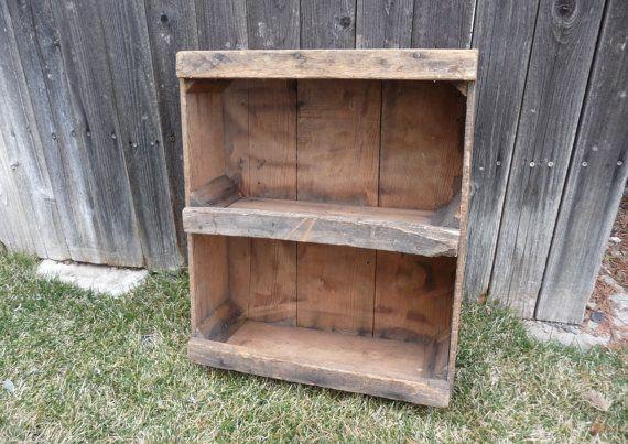 vintage wood fruit apple crate wooden box with center. Black Bedroom Furniture Sets. Home Design Ideas