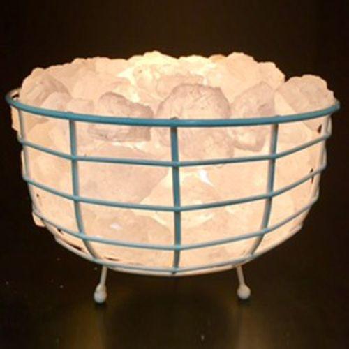 White Himalayan Salt Round Basket