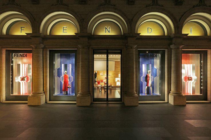 The new Spring/Summer 2014 Windows iin Palazzo Fendi