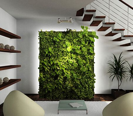 Gorgeous Interior Design Realized By Artificial Plants Wall The Perfect Green Make