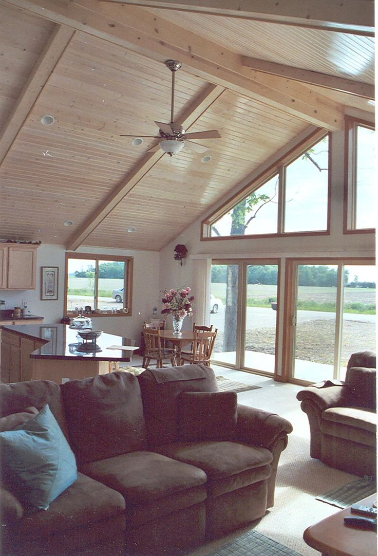 Alpine plan-Modular home interior.  Chalet ideas  Pinterest