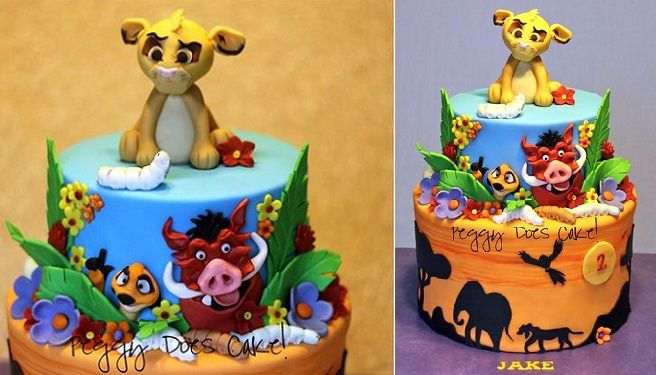 Image result for baby animal birthday cake