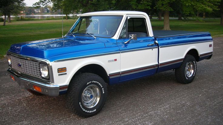 1972 chevrolet k10 pickup presented as lot f14 at