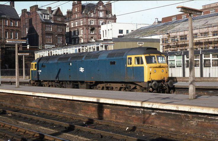 Brush Type 4 class 47 47449 Carlisle original Railway Slide
