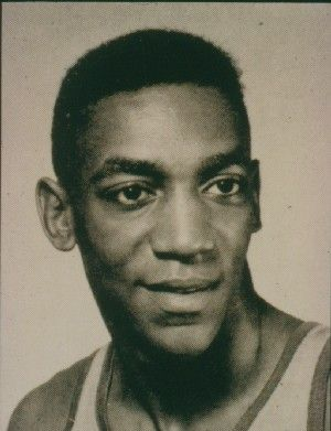 Sailor Bill Cosby played basketball for the Navy, image courtesy of James E. Wise. Cosby enlisted in the Navy in 1956. He trained as a hospital corpsman and served aboard ships and at the Marine base at Quantico, Virginia, before being sent to Bethesda Naval Hospital, assigned to work with Korean War casualties. In 1960, Cosby was honorably discharged and used his GI Bill benefits to attende Temple University. He later received an M.A and Ed.D.(Education) at the University of Massachusetts.