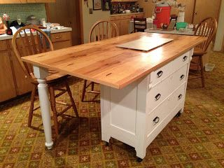From Dresser to Kitchen Island: The Transformation!