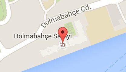 Map of Palais de Dolmabahçe