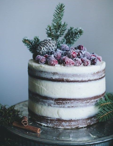 Do a decadently frosted berry cake for your wedding reception.