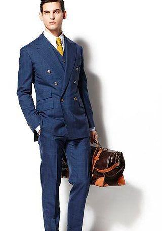 ネイビースーツ×青ネクタイの着こなし | スーツスタイルWEB