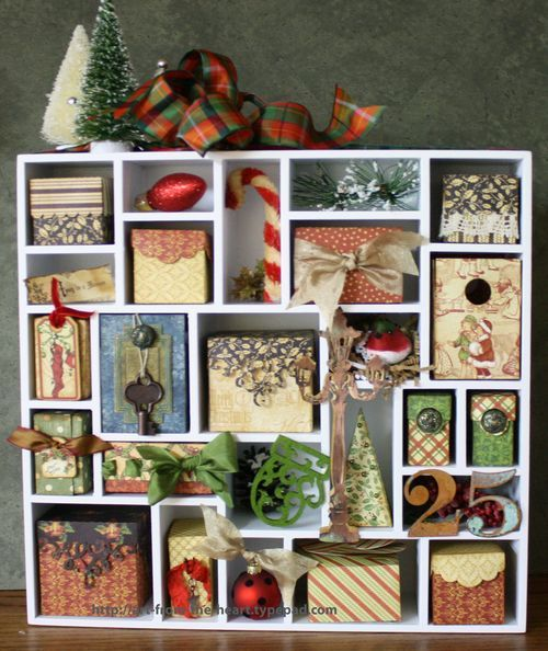 An advent calendar dreams were made of by @Nancy Wethington. From our Core'dinations Blog Hop this week!