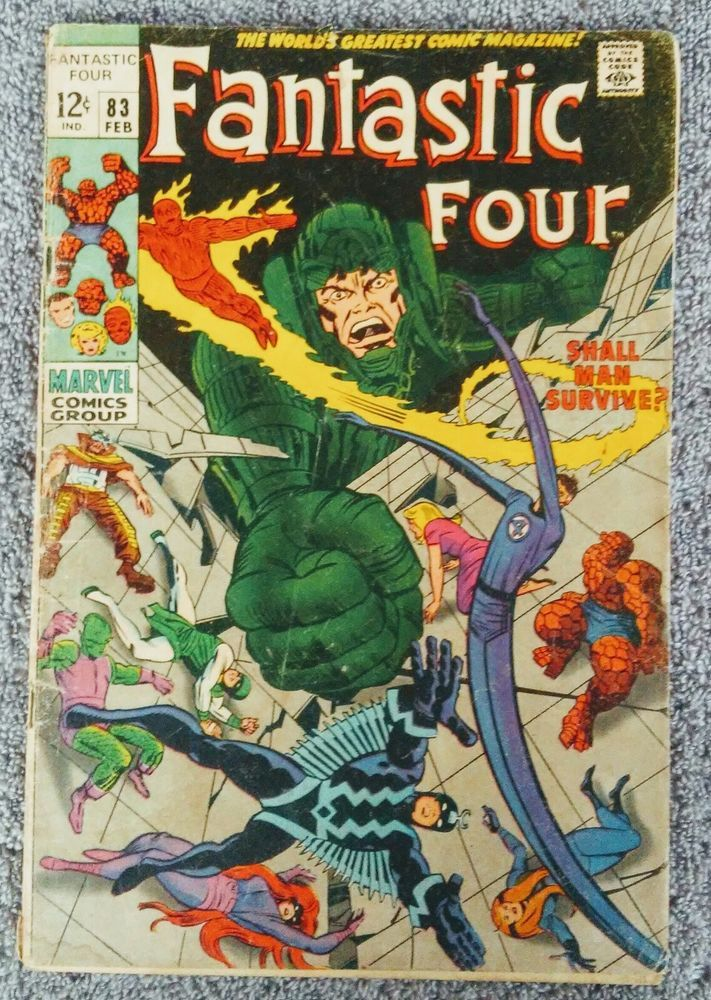 Fantastic Four Comic Book #83 With The First Inhumans Stan Lee and Jack Kirby