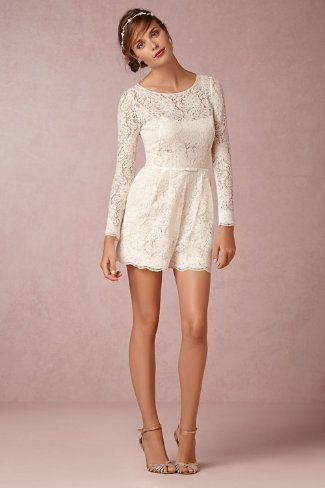 stunning lace romper from bhldn. perfect for the get-a-way or shower!
