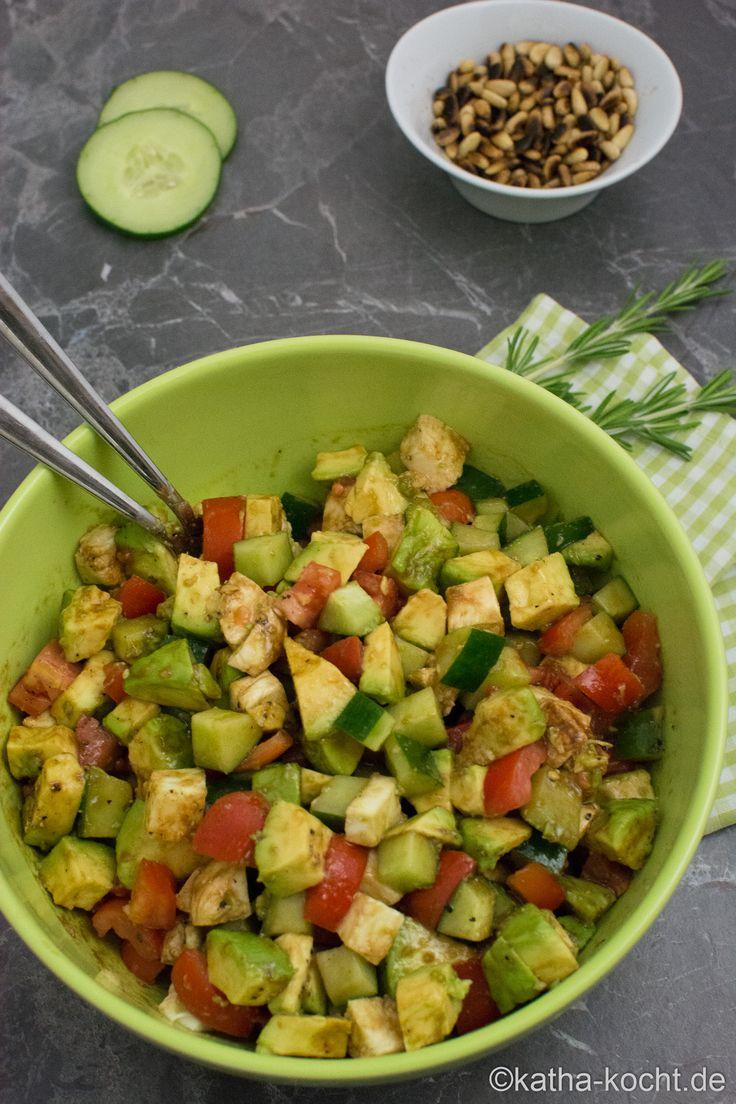 Colorful avocado salad  – Healthy