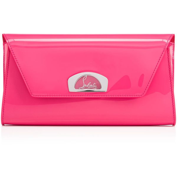 Christian Louboutin Vero-Dodat Clutch featuring polyvore women's fashion bags handbags clutches darling chain strap handbag pink clutches pink envelope clutch clasp handbag envelope clutch