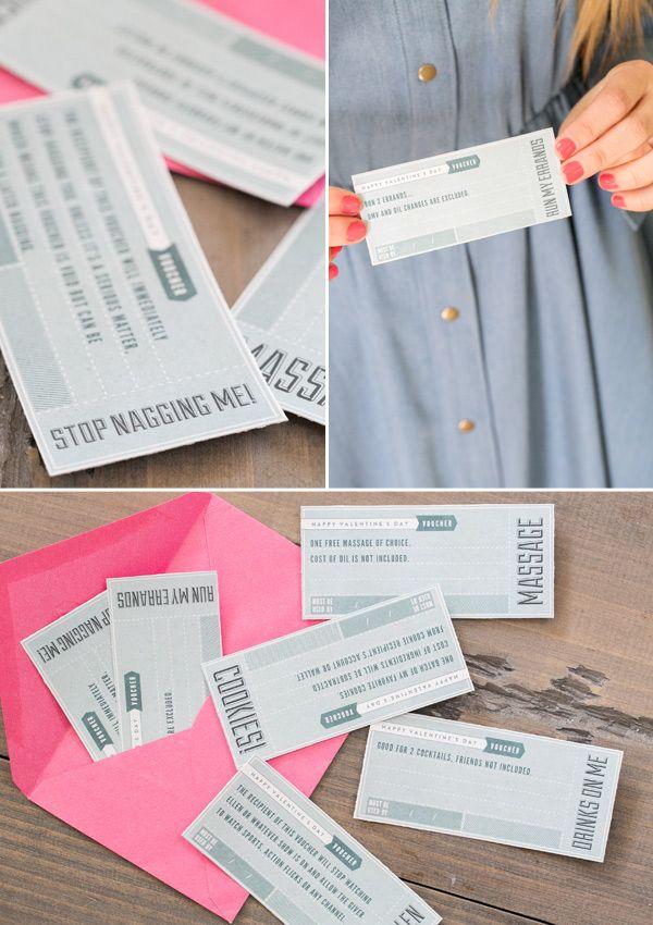 Printable Valentine's Day Vouchers!