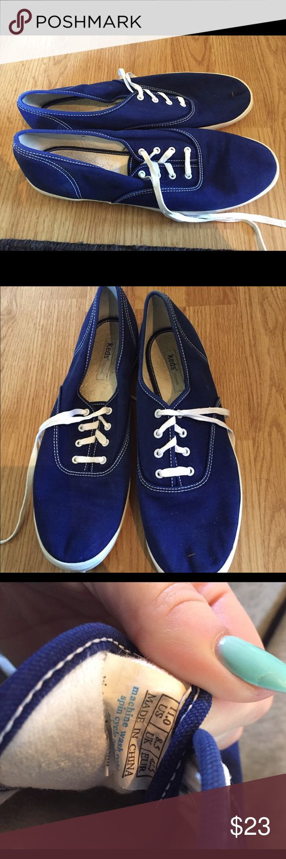 KEDS Champion (dark royal blue) - Size 11 Good condition dark royal blue Keds! Keds Shoes Sneakers