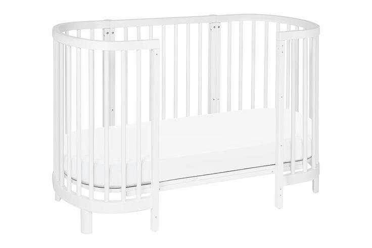 Hula Convertible Oval Crib and Mini Bassinet