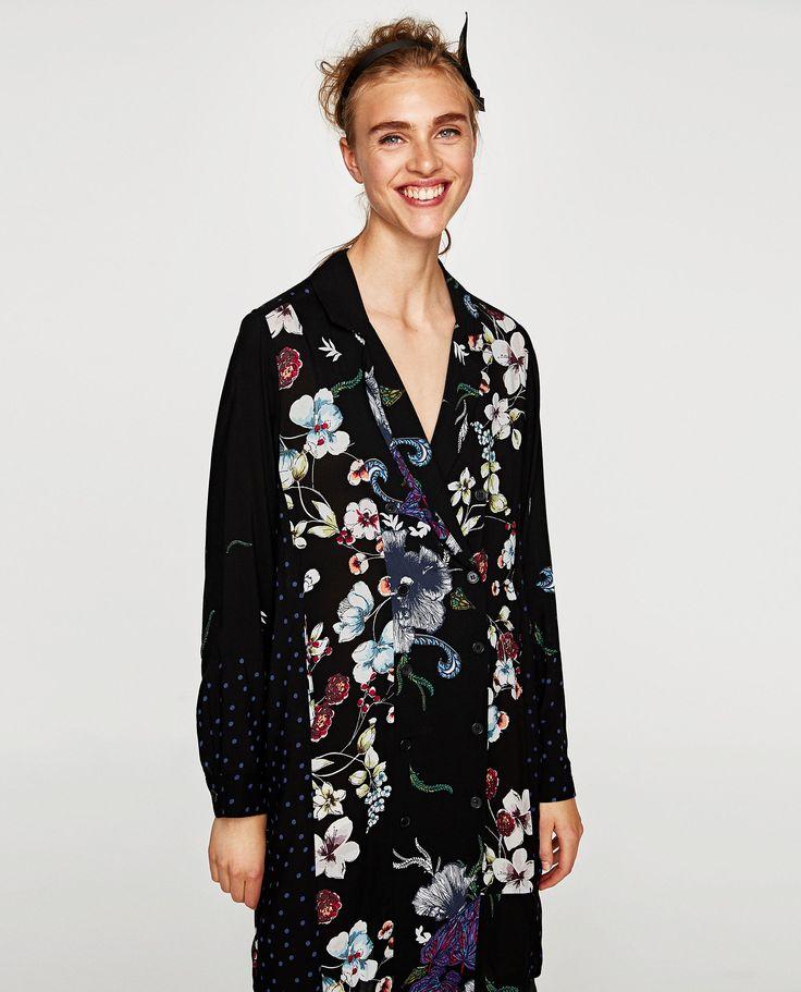 Image 2 of FLORAL BLAZER DRESS from Zara