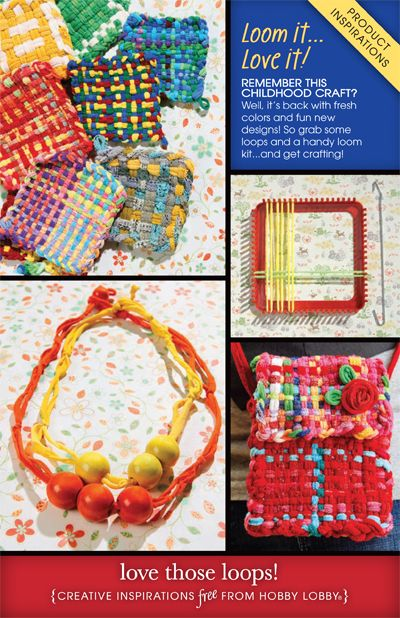 Remember this childhood craft? Well, it's back with fresh colors and fun new designs! So grab some loops and a handy loom kit...and get crafting!