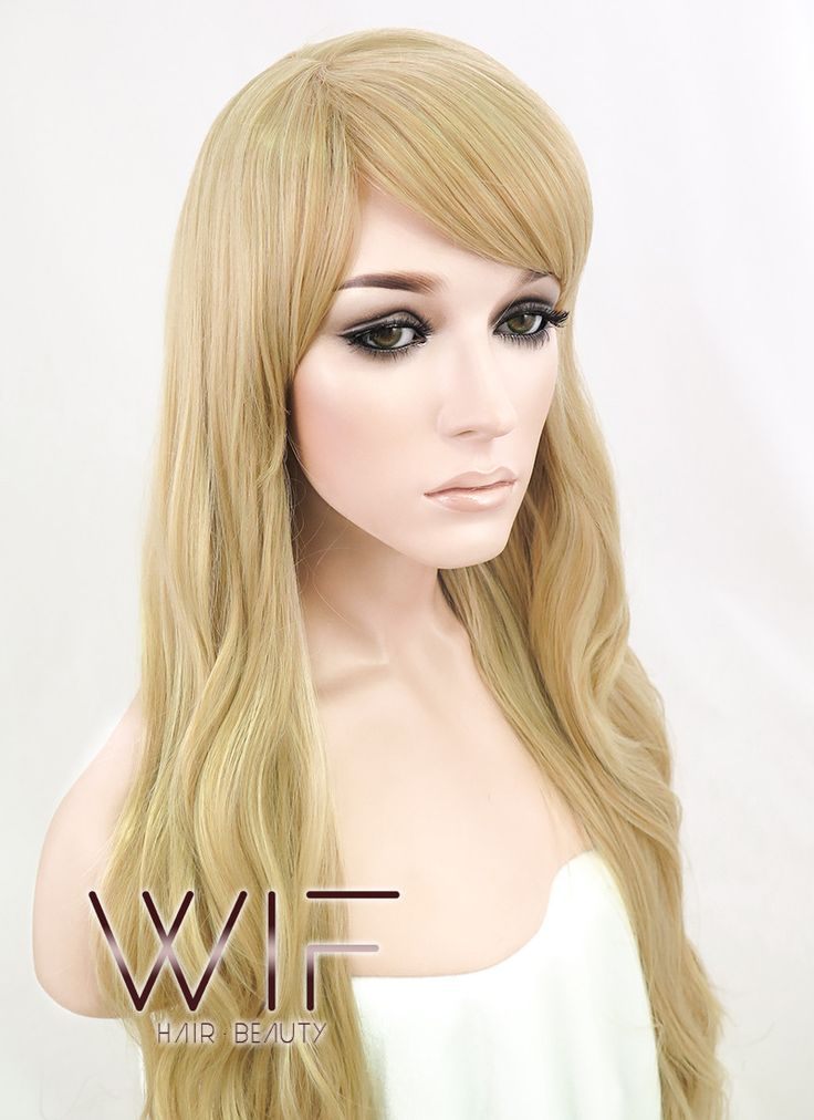 """27"""" Long Curly Blonde Fashion Synthetic Hair Wig WIG124 – Wig Is Fashion"""