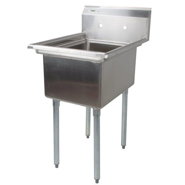 Regency 22 16 Gauge Stainless Steel One Compartment Commercial Sink Without Drainboard 17 X 23 X 12 Bowl In 2020 Commercial Sink Sink Mop Sink
