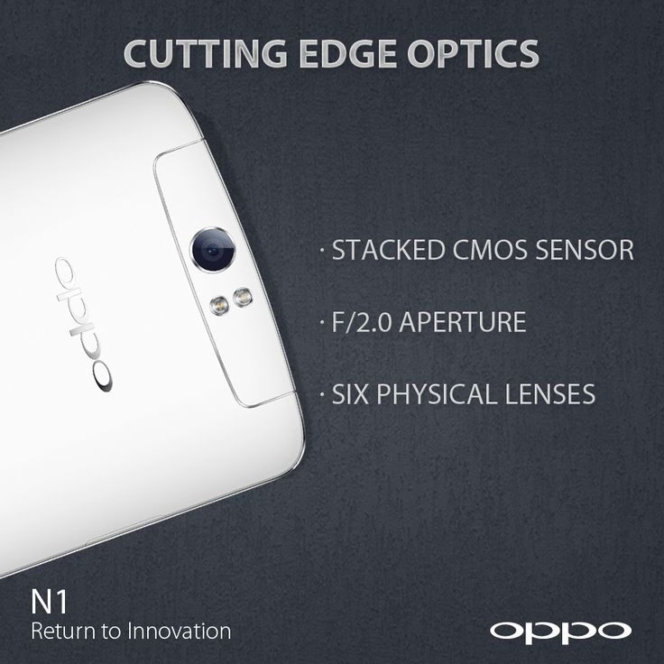 N1 is the first Android smartphone to use six physical lenses, giving you a clearer image while eliminating any distortion. The latest generation stacked CMOS sensor, upgraded type 1/3.06 imaging module and f/2.0 wide aperture lets more light in, so you can take great photos even in dark environments. http://en.oppo.com/n1/ #OPPON1