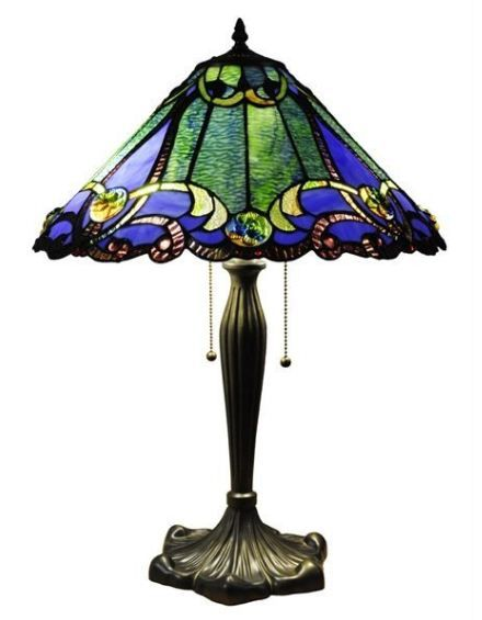 Cairo Tiffany Style Table Lamp With Stained Glass Shade The Brick