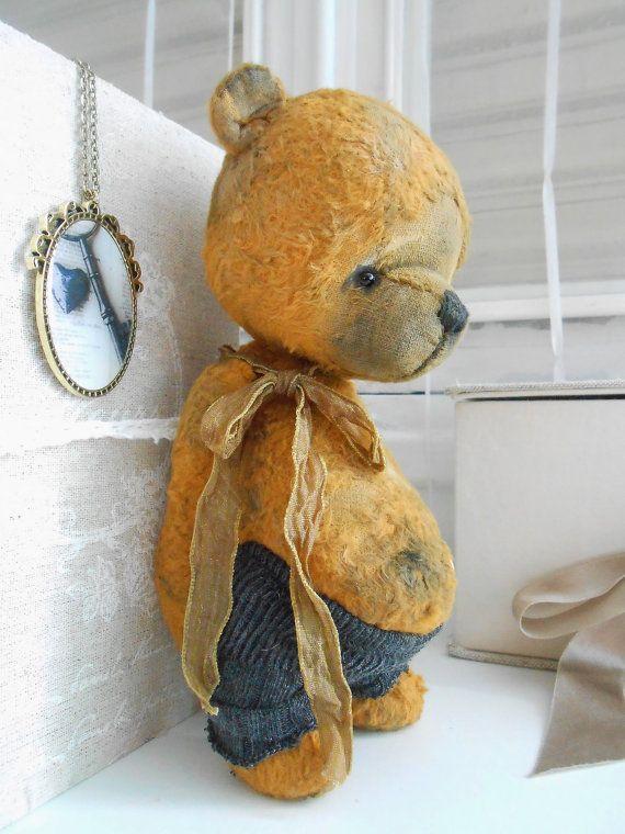 """Artist bear"""" Titouan """" by Sylvie Touzard available immediately"""