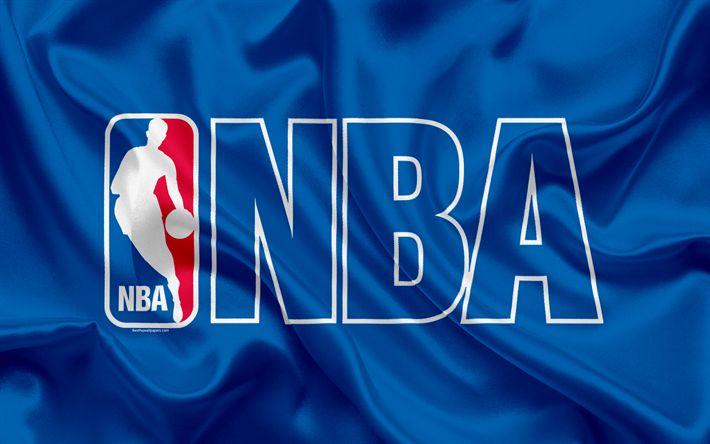 Descargar fondos de pantalla La NBA, la Asociación Nacional de Baloncesto, estados UNIDOS, el baloncesto, el logo de la NBA, emblema