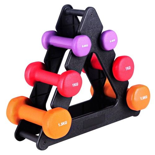 Everfit 6 Piece 6kg Dumbbell Weights Set W/ Stand. FREE Shipping unto 70% Sale Australia Wide. Only at Philstralia.com.au