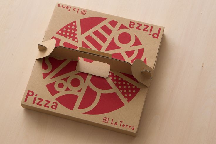 La Terra Pizza box — Tetusin Design Office