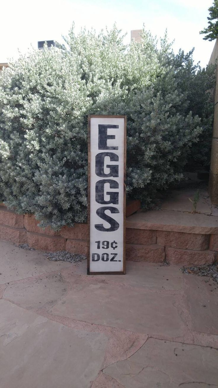 Farmhouse Kitchen Decor Fresh Eggs Sign Egg Sign Market Sign Vertical Sign Farmhouse Decor