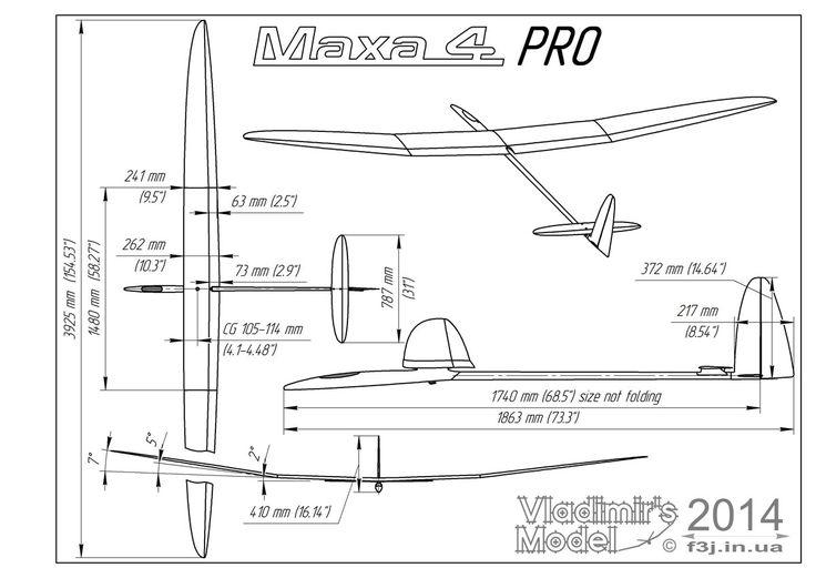 Maxa Pro 4 F3J - RC Gliders - Thermal Soarers & F3J Gliders