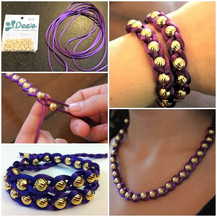 How to Make Easy Braided and Beaded Bracelet