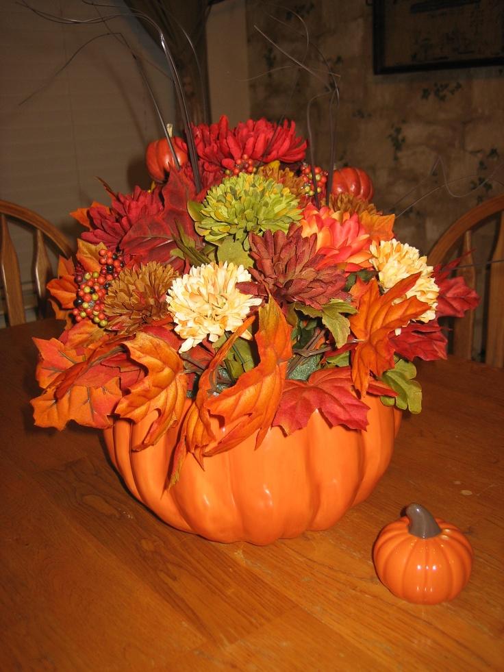 83 best silk flowers images on pinterest silk flowers for Fall fake flower arrangement ideas