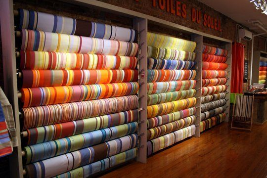 striped & colorful French textiles - shop @ Les Toiles du Soleil (NYC).