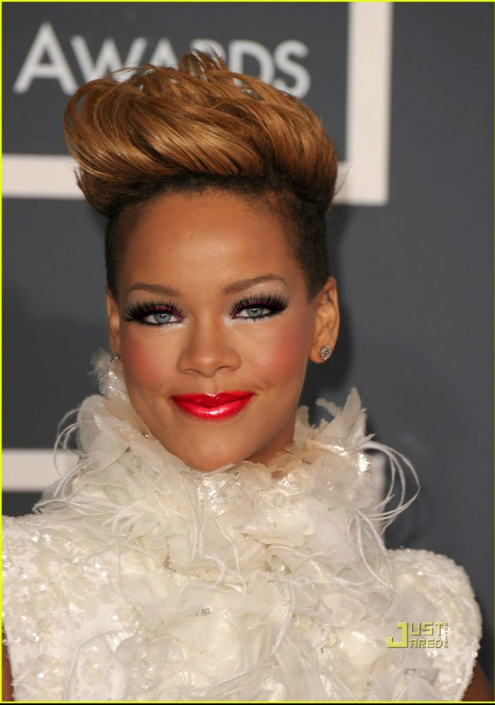 """"""" Rihanna"""" created using TAAZ Virtual Makeover. Try on Hairstyles, Makeup, and color your own hair. It's free!"""