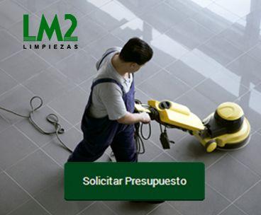 Banner solicitar presupuesto Limpiezas LM2