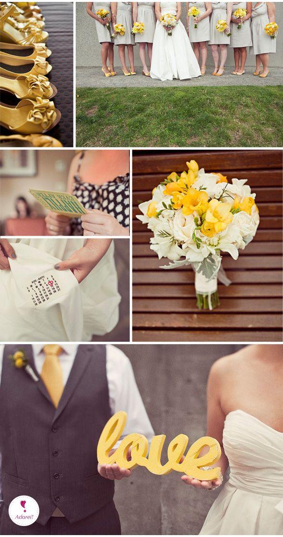 Casamento #18 – Amarelo e Cinza | Yellow and Grey Wedding