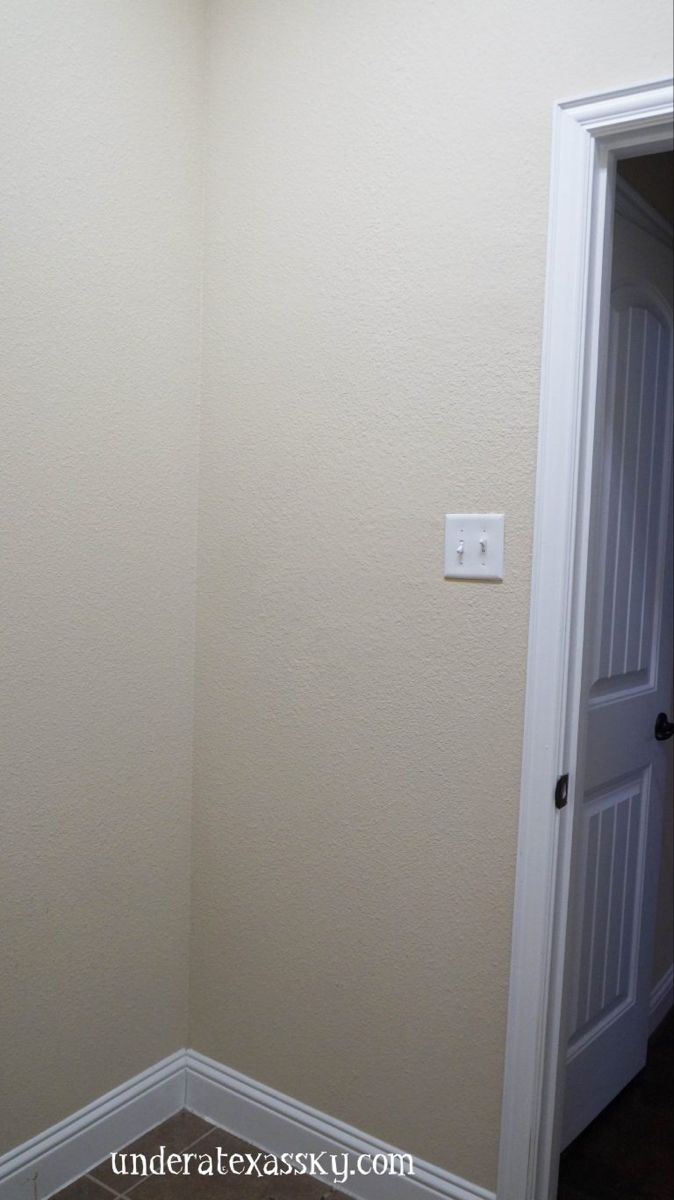 Shiplap Wall Accent Laundry Room Makeover-