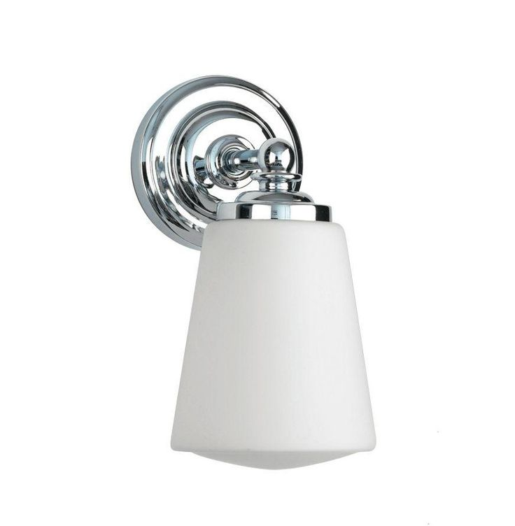Anton Bathroom Wall Light Makes It A Perfect For Traditional Elegant Interiors The Has Polished Chrome Finish And Tapered White Opal Glass