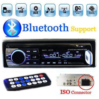 インダッシュ1 din 12ボルト車チューナーステレオbluetooth fmラジオmp3オーディオプレーヤーusb/sd mmcポートカーラジオbluetoothチューナーisoポート