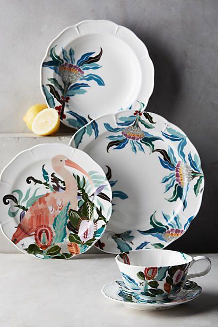 Paradise Found Dinner Plate - anthropologie.com