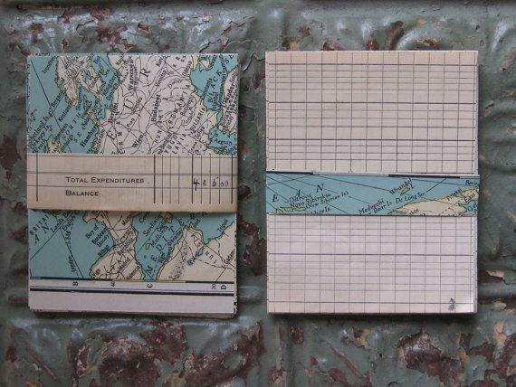 Vintage Map and Ledger Ephemera Pack 50 Pieces by emmylucy on Etsy