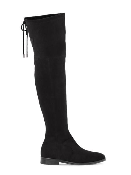Black Suede over-the-knee Fuller Boot | DuoBoots