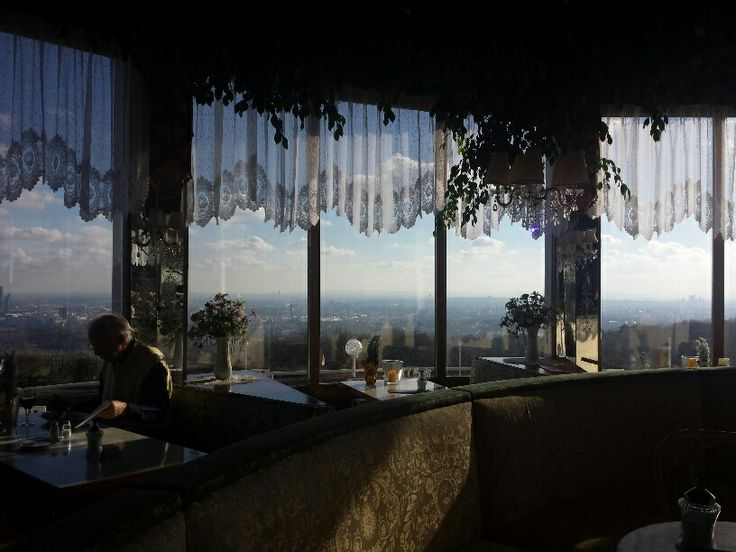 Café am Cobenzl. Am Cobenzl 96. Best view over Vienna. Best retro restaurant in town (including waiters).