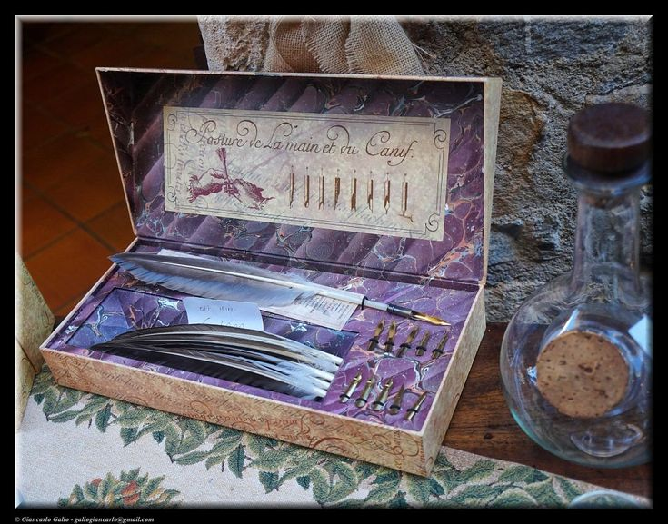 Antique writing pens by Giancarlo Gallo