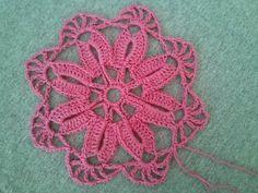 Цветочный мотив и листочек Flower and leaf motif Crochet - YouTube